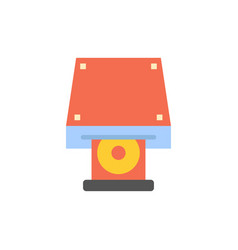 Dvd cdrom data storage disk rom flat color icon vector