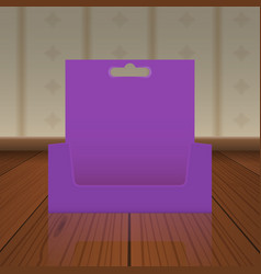 empty cardboard or visit card display box with vector image