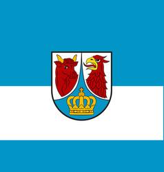 Flag of dahme-spreewald in brandenburg germany vector