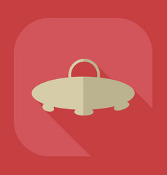 Flat modern design with shadow icon ufo vector