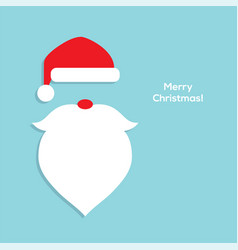 Flat santa head icon vector