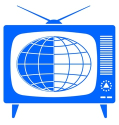 Globe in retro TV vector image