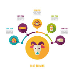 goat farming icon and agriculture infographics vector image