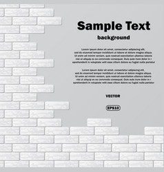Gray brick wall with text vector