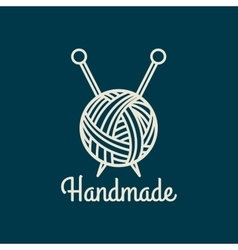 Handmade line icon vector