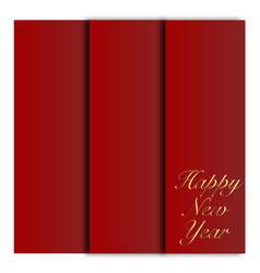happy new year decorative card with golden vector image