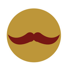 hipster mustache fashion block and flat icon vector image