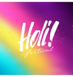 Holi festival colorful background vector