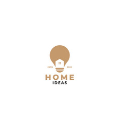 Home or house architecture ideas lamp logo design vector