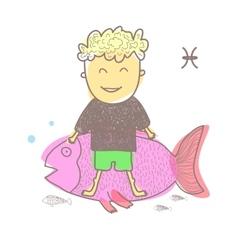 Horoscope fish vector