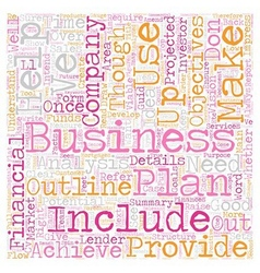 How To Create A Good Business Plan text background vector