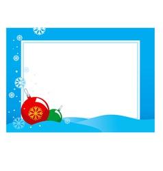 Hristmas frame vector