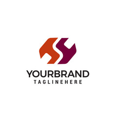Hs s logo logo design template vector