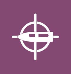 Icon aim on bullet vector