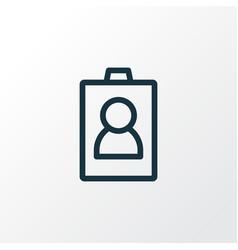 id icon line symbol premium quality isolated vector image