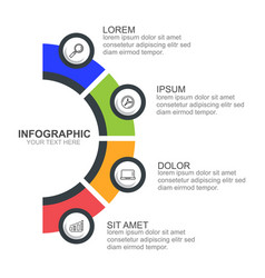 Infographic template with option or step for busin vector