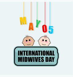 International midwives day vector