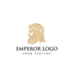 king logo design vector image