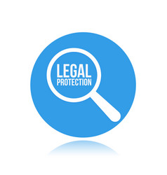 legal protection word magnifying glass vector image