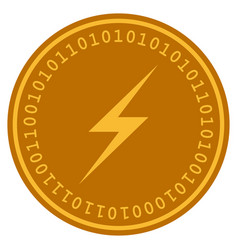 Lightning digital coin vector