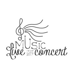 live music concert black and white poster vector image