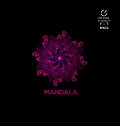 mandala design logo cimpl combcept vector image