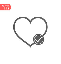 Modern heart line icon premium pictogram isolated vector