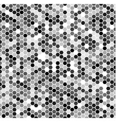 Monochrome seamless honey pattern with halftone vector