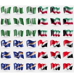Norfolk Island Kuwait Marshall Islands Sealand vector image