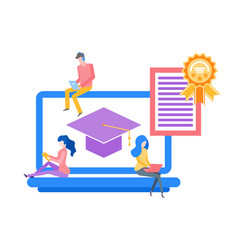 online education obtaining knowledge in distance vector image