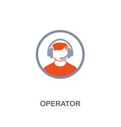 operator icon premium two colors style design vector image