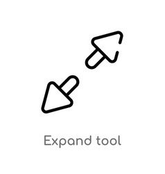 Outline expand tool icon isolated black simple vector