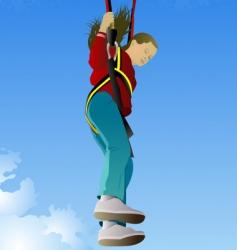 Parachute jumper vector