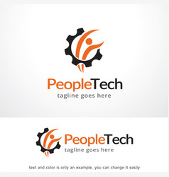 People tech logo template design vector