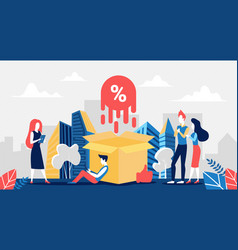 percent interest financial rate percentage symbol vector image
