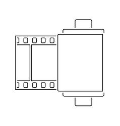 photo cartridge reel icon vector image