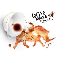 Poster wild coffee rhino vector