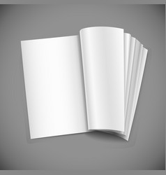 realistic opened notebook vertical blank copybook vector image