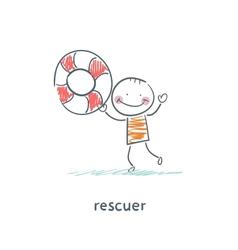 Rescuer vector image vector image