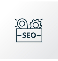 seo package icon line symbol premium quality vector image