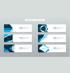 Set abstract banners modern design vector