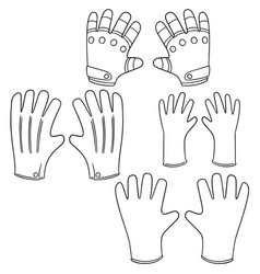 Set gloves vector