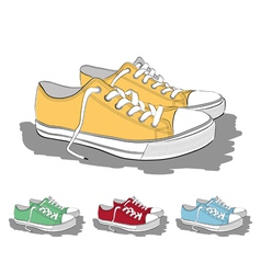 Set low sneakers vector