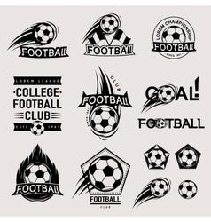 set vintage modern and retro logo badges vector image