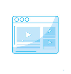 Silhouette website with important videos vector