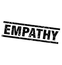 Square grunge black empathy stamp vector