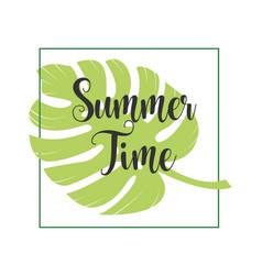 Summer time template design vector