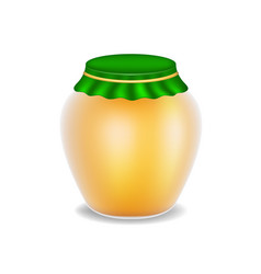 sweet honey in glass bottle vector image