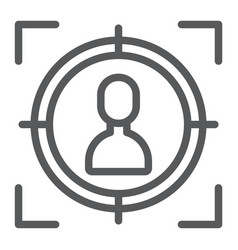 target line icon focus and targeting aim sign vector image