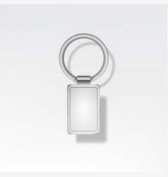 Template metal keychain realistic vector